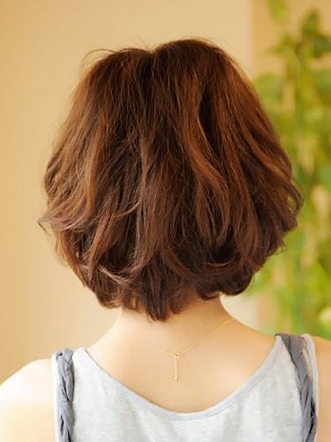 マッシュルームボブウェーブ【表参道30代髪型】バック
