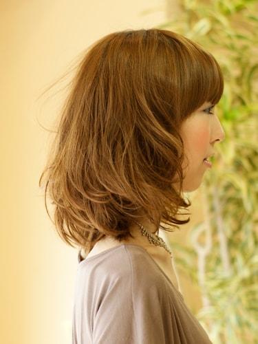40代パーマボブスタイル【表参道ミセス髪型】サイド