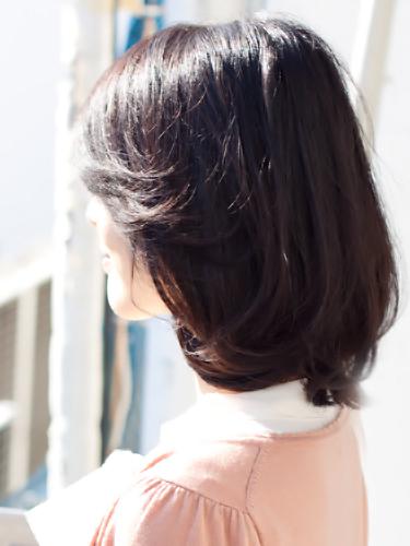 【表参道ミセス髪型】40代50代髪型ミディアムスタイルサイド