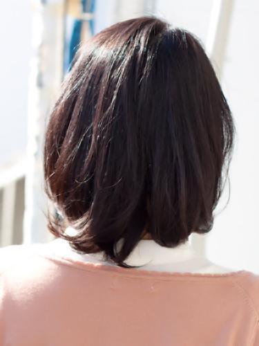 【表参道ミセス髪型】40代50代髪型ミディアムスタイルバック