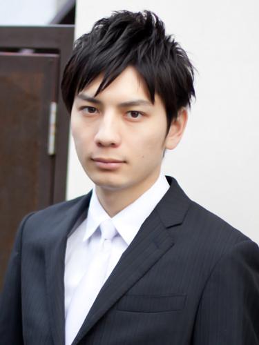 【表参道男性髪フロント型】ビジネスマン2ブロックヘアスタイル4フロント