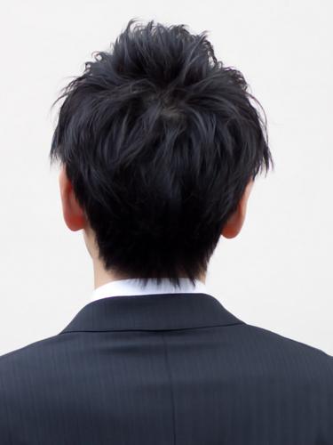 【表参道男性髪型】ビジネスマン2ブロックヘアスタイル4バック