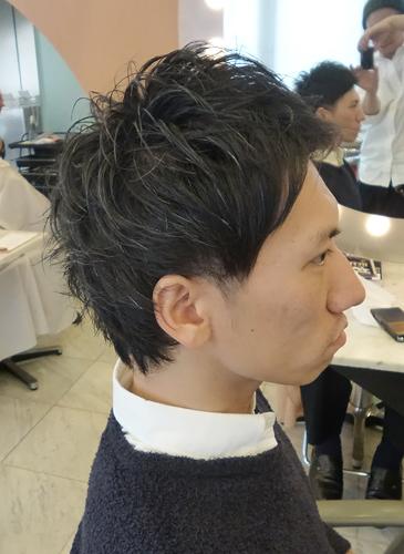 【表参道男性髪型】ビジネスマン2ブロックヘアスタイル2サイド