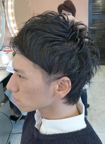 【表参道男性髪型】ビジネスマン2ブロックヘアスタイル2フロント