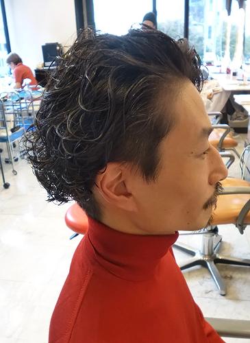 2ブロックウェーブ40代50代髪型