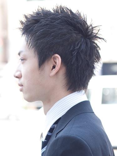 40代男性髪型ビジネススタイル2サイド