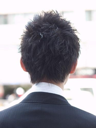 40代男性髪型ビジネススタイル2バック
