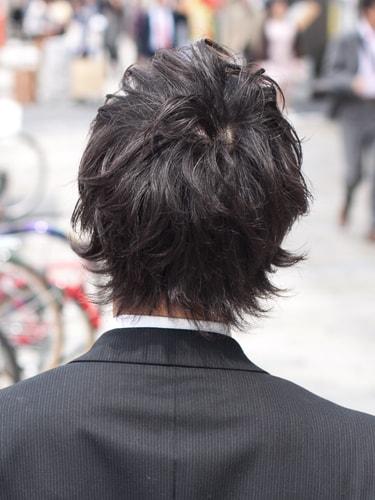 40代男性髪型ビジネスショート11バック