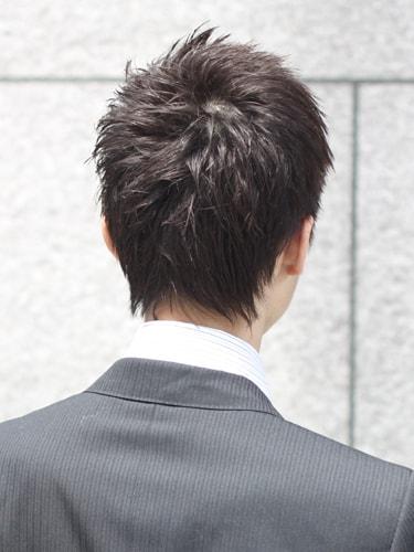 40代男性髪型ビジネスショート5バック