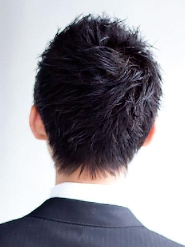 40代男性髪型ビジネスショート9バック