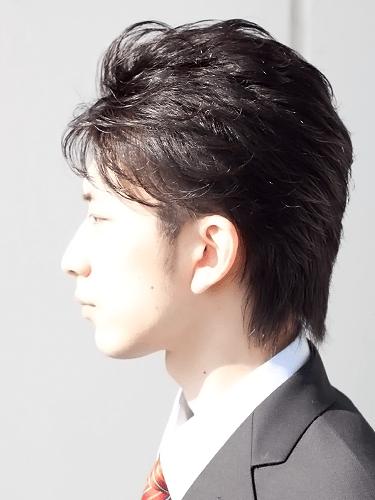 40代男性髪型ビジネスショート6サイド