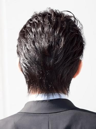 40代男性髪型ビジネスショート6バック