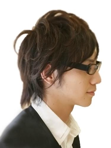 40代男性髪型ビジネスショート8サイド