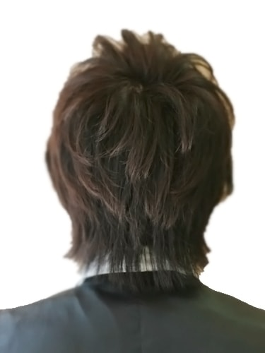 40代メンズヘアスタイルビジネスショート8バック