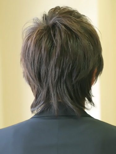 40代男性髪型ビジネスショート12バック