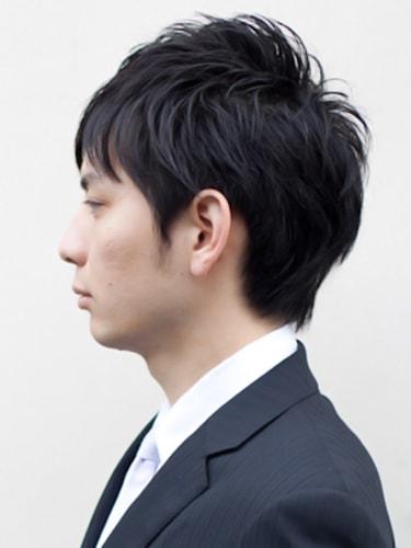 40代男性髪型ビジネスショート4サイド
