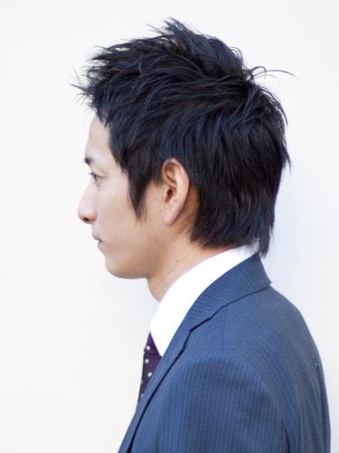 40代男性髪型ビジネスショート7サイド