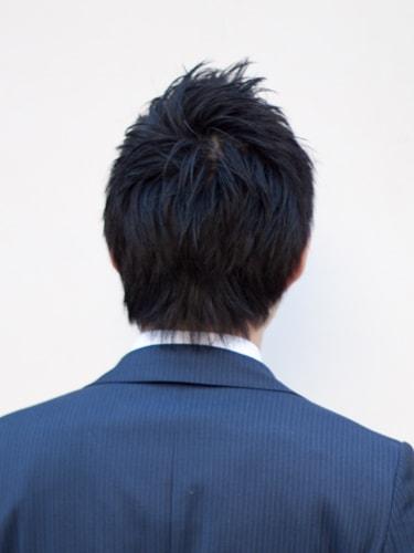 40代男性髪型ビジネスショート7バック