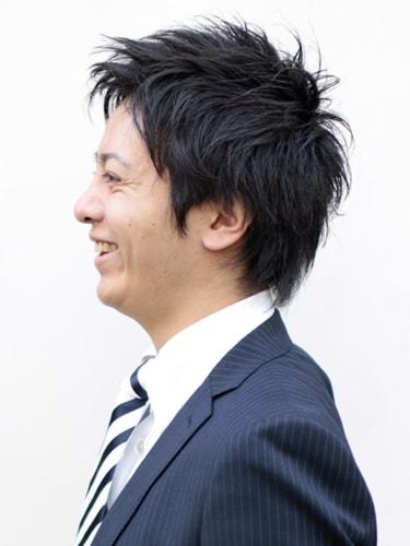 40代男性髪型ビジネスショート10サイド