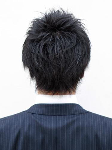 40代男性髪型ビジネスショート10バック